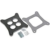 17-59 Carburetor Spacer - Black, Phenolic plastic, Universal