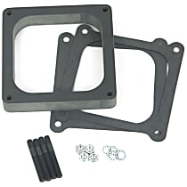 Carburetor Spacer - Black, Phenolic plastic, Universal