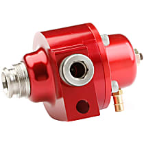 512-502-1 Stock Replacement Adjustable Fuel Pressure Regulator, 35-65 PSI, Red, Gas, Return, Sold Individually