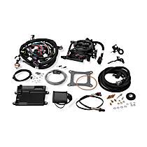 Holley 550-424 Fuel Injection Kit - Anodized gray, Direct Fit, Kit