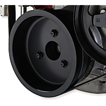 Crankshaft Pulley - Black, Steel, Sold individually