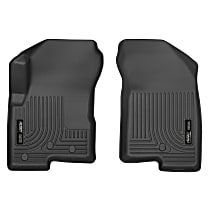 13001 Black Floor Mats, Front Row