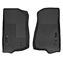 13021 Black Floor Mats, Front Row
