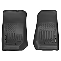 18021 Black Floor Mats, Front Row