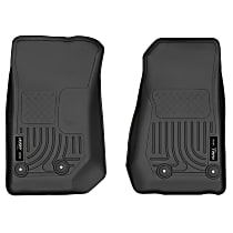 18041 Black Floor Mats, Front Row