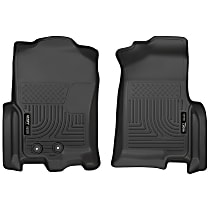 18371 Black Floor Mats, Front Row
