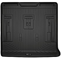 28251 Husky Liners Weatherbeater Cargo Mat - Black, Rubberized/Thermoplastic, Molded Cargo Liner, Direct Fit, Sold individually