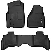 Black Floor Mats, Front And Second Row