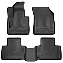95601 Black Floor Mats, Front and Second Row