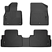95691 Black Floor Mats, Front And Second Row