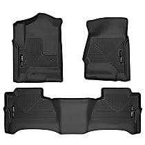 98231 Black Floor Mats, Front And Second Row