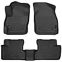 98631 Black Floor Mats, Front And Second Row
