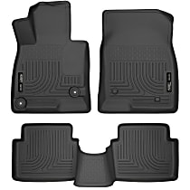 98651 Black Floor Mats, Front And Second Row