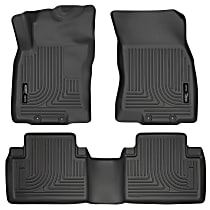 98671 Black Floor Mats, Front and Second Row