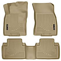 98673 Tan Floor Mats, Front and Second Row
