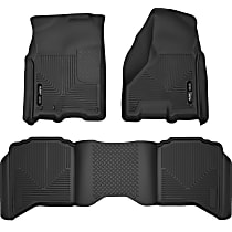 99001 Black Floor Mats, Front And Second Row