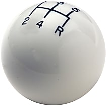Shift Knob - White, Plastic, Round, Universal, Sold individually