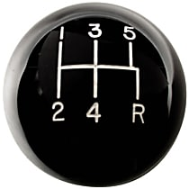 1630114 Shift Knob - Black, Plastic, Round, Direct Fit, Sold individually