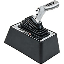 3838530 Hurst V-Matic 3 Shifter - Brushed Handle and Chrome Stick/Plate, Steel, Aluminum, and Plastic, Automatic, Universal, Sold individually