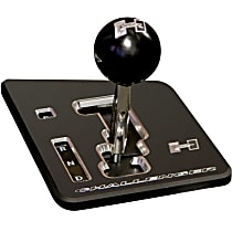 5380402 Shifter Stick - Anodized Black Plate and Black Knob, Stainless Steel, Auto Stick, Direct Fit, Kit
