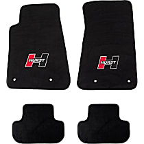 6370000 Black Floor Mats, Front And Second Row