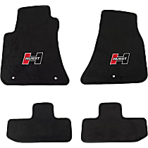 6370010 Black Floor Mats, Front And Second Row