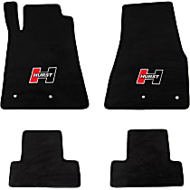 6370020 Black Floor Mats, Front And Second Row