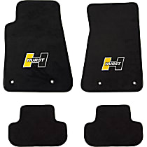 6371000 Black Floor Mats, Front And Second Row