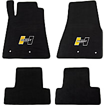 6371020 Black Floor Mats, Front And Second Row