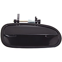 Rear, Passenger Side Exterior Door Handle, Smooth Black