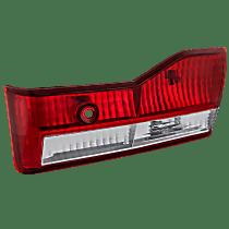 Passenger Side, Inner Tail Light, With bulb(s) - Clear & Red Lens, Sedan