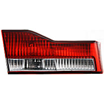 Driver Side, Inner Tail Light, With bulb(s) - Clear & Red Lens, Sedan