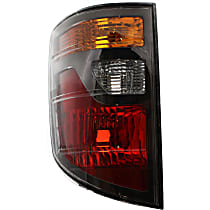 Driver Side Tail Light, Without bulb(s) - Amber, Clear & Red Lens, USA Built