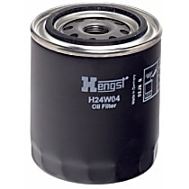 H24W04 Oil Filter - Spin-on, Direct Fit, Sold individually