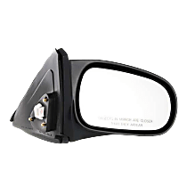 Mirror - Passenger Side, Power, Light Textured, For Coupe or Hatchback