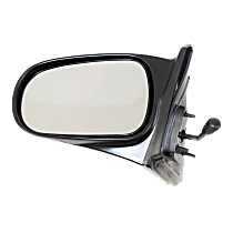 Mirror - Driver Side, Manual Remote, Textured Black, For Coupe or Hatchback