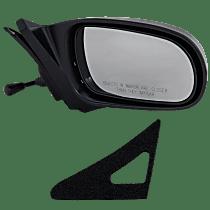 Mirror - Passenger Side, Manual Remote, Textured Black, For Coupe or Hatchback