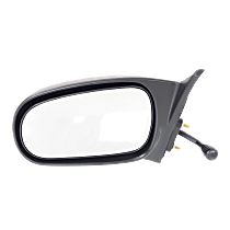 Mirror - Driver Side, Manual Remote, Textured Black, For Sedan