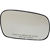 Passenger Side Heated Mirror Glass, Without Turn Signal Light