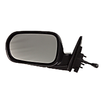 Mirror - Driver Side, Manual Remote, Folding, Paintable, For Sedan
