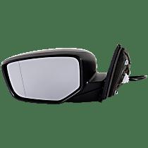 Mirror - Driver Side, Power, Folding, Paintable, For Sedan
