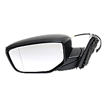 Mirror - Driver Side, Power, Folding, Paintable, For Coupe