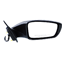 Mirror Manual Folding Heated - Passenger Side, In-housing Signal Light, Paintable