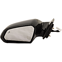 Mirror Heated - Driver Side, In-housing Signal Light, With Blind Spot Detection in Glass, Paintable