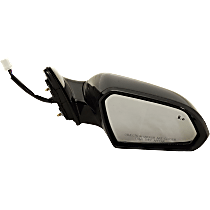 Mirror Heated - Passenger Side, In-housing Signal Light, With Blind Spot Detection in Glass, Paintable
