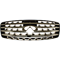Grille Assembly - Black Shell with Chrome Insert