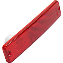 Crown Side Marker Lens - J0994021 - Rear, Driver or Passenger Side, Direct Fit, Red, Plastic, Sold individually