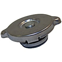 Crown Radiator Cap - J3239375 - Round, 13 lbs., Polished, Steel, Sold individually