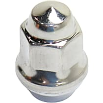 Crown J4006956 Lug Nut - Polished, Stainless Steel, Thread Direct Fit, Sold individually
