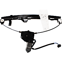 Front, Driver Side Power Window Regulator, With Motor - To 3-9-00